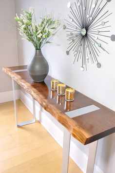 Custom 7 5ft Mesquite Live Edge Buffet Console Table With