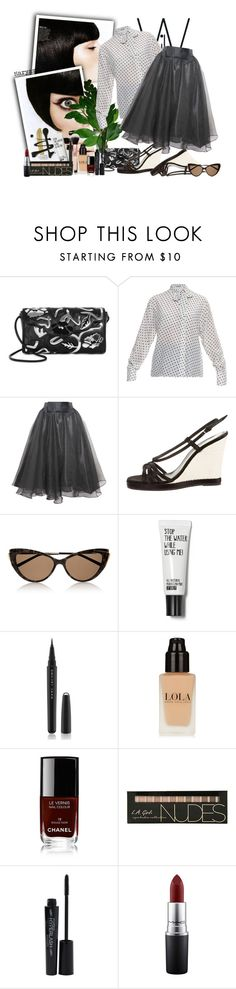 """205"" by klukina-mv ❤ liked on Polyvore featuring Christopher Kane, Bottega Veneta, Relaxfeel, Yves Saint Laurent, Marc Jacobs, Chanel, Smashbox and MAC Cosmetics"