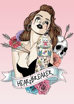 Heart breaker illustration