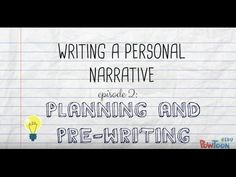 Writing a Personal Narrative: Planning & Pre-Writing a Story for Kids - YouTube