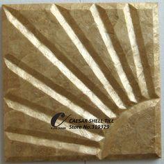 doğal bal capiz kabuk fayans, mdf tahta destekçisi, güneş pattern#l041