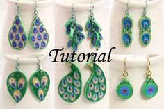 This premium paper quilling tutorial teaches several quilling techniques and six different jewelry patterns, all peacock inspired.