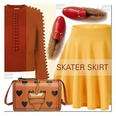 """SKATER SKIRT ANYONE?"" by sweta-gupta ❤ liked on Polyvore featuring Chloé, Gucci, skaterSkirts and polyvoreeditorial"