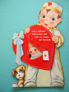 Large Vintage Mechanical Valentine's Day Card by SongbirdSalvation