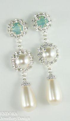 Teardrop pearl and crystal ...ADD diy ♥❤ www.customweddingprintables.com #customweddingprintables