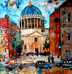 St Paul's Cathedral, London by British Contemporary Artist Richard Burel