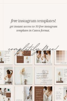 Looking to make your business look more professional and on brand? Grab these FREE Instagram templates for Canva! Business Checks, Business Look, Brand Identity Design, Branding Design, Instagram Templates, Free Instagram, Starting Your Own Business, Social Media Template, Website Template
