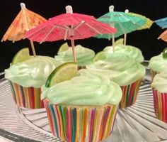 Margarita Cupcakes With Key Lime Icing-I followed the suggestion adding tequila to cake and icing and served at a party where both men and women wanted more.