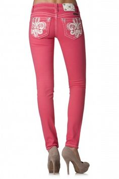 These blingy skinny melon MissMe jeans are so cool.