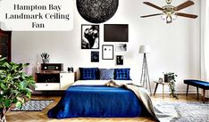 Hampton Bay Landmark Ceiling Fan Another Hampton Bay ceiling fan that will match perfectly to your traditional indoor designs. An additional design that will make…
