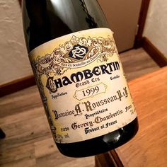 1999 Chambertin Armand Rousseau Burgundy France  This domaine has a proven record for benchmark Burgundies since the 1930s.  A light ruby core fading towards faint ruby rim. Given time it will seduce you with expressive and pure black and red fruits enhanced by dry earthy spice and a delicate aroma of smoke. Great now  spectacular in next 10-20 years.  ______________________________________________________ #Chambertin #ArmandRousseau #Burgundy #ArmandRousseauChambertin #GrandCru # #FineWine…