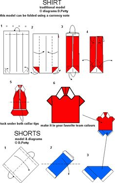 How To Origami Shirt - Puttles.com