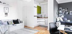 Mini piso en estilo nórdico - http://www.decoora.com/mini-piso-en-estilo-nordico/