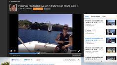 L'inizio delle riprese 'in live' durante la lezione pomeridiana in barca a vela. Per vedere il video vai su Ustream.tv: http://www.ustream.tv/recorded/34529435 ::: Video e condivisioni online live di Pierfrancesco Marsiaj