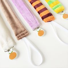 Plush Velour Pacifier Clips | Satsuma Designs