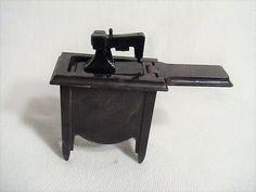 Vintage IDEAL Sewing Machine Cabinet Dollhouse Furniture Miniature 9-836  | eBay
