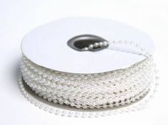 3mm String Beads White 24yd