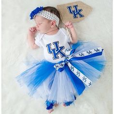 Kentucky tutu outfit or pick your team by TouchdownTutus on Etsy