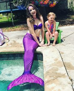 Transform into an elegant mermaid princess with Fin Fun's Asian Magenta mermaid tail in a refreshed design! You'll fall in love with this purple mermaid tail! Mermaid Suit, Fin Fun Mermaid, Mermaid Tails For Kids, Mermaid Tail Drawing, Realistic Mermaid, Professional Mermaid, H2o Mermaids, Mermaid Princess, Princess Party