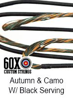 autumn and camo with black serving custom bow string