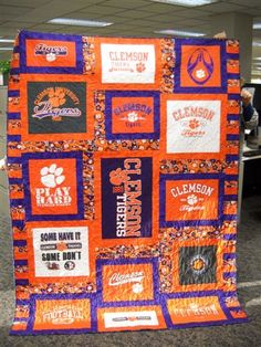 Clemson T-Shirt Quilt SO AWESOME!!