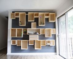 Wooden Crate Wall Projects | 99 Pallets