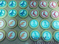 Galletas decoradas con papel de azúcar temática Mia #sweetmoments