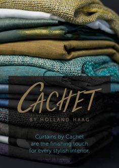 Cachet by Holland Haag. Curtains by Cachet are the finishing touch for every stylish interior. Curtain Fabric, Curtains, Stylish Interior, Holland, Room Decor, Touch, Creative, Inspiration, Design