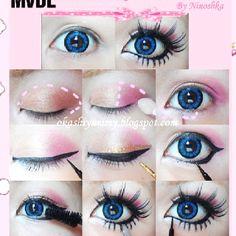 Gyaru eye make up tutorial