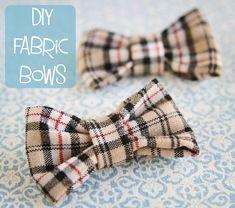DIY Fabric Bow. #fabric #bow #DIY