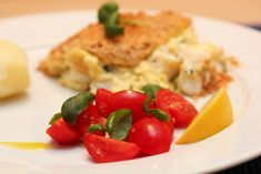 fiskegrateng Frisk, Parmesan, Chicken, Meat, Food, Basil, Eten, Meals, Cubs