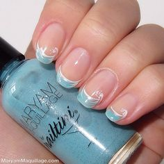 """The Great Wave"" inspired nails 