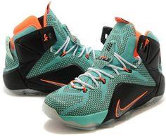 Lebron 12 P.S Elite Orange Black Grey Green0