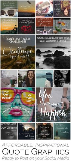 Social media quotes for marketing your small business: Connect with your prospects daily using shareable graphics that save you time! 20 gorgeous images in choice of warm or cool tones. Watermark them or use as-is. Click to website to see them all!