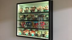 New large display-go perfect for pop vinyls and other large figures! Adjustable shelves and LED remote controlled lights! www.display-go.com