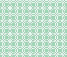 Geo Tile Breeze & White fabric by brownpaperpackages on Spoonflower - custom fabric