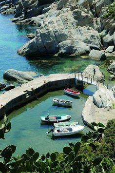 Fishing Boats in Ikaria island , Greece