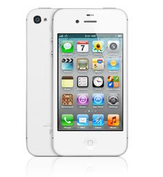 White iPhone 4s, 64GB (enough room for your entire iTunes library and several full length movies