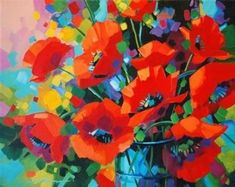 Items similar to Spring Mirth-flower painting-wild flowers-garden flower art-happy painting-whimsical floral artwork-canvas art-wall art-impressionist art on Etsy Paint Flowers, Acrylic Flowers, Abstract Flowers, Acrylic Art, Acrylic Paintings, Art Paintings, Wild Flowers, Abstract Flower Paintings, Poppies Painting