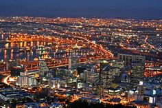 Cape Town at night,South Africa