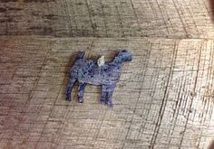 Blue and silver crackle wooden goat pendant with rhinestone pinch bail. Repin to be entered to win one of four $50 gift certificates during our Five Year Anniversary Celebration in July 2014.