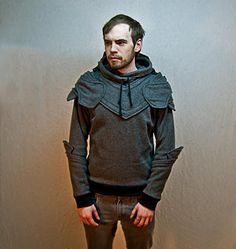 Suit of armor hoodie. These were on sale through his Etsy store until word got out and everyone wanted one =(