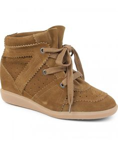 Isabel Marant Bobby Suede Wedge Trainers Camel - Isabel Marant #isabelmarant #shoes #sneakers #women #womenfashion #newyear #fashion #gifts