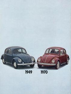 Volkswagen 1970 Beetle Sales Brochure