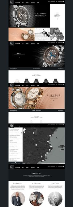 Gc Watches #webdesign #inspiration #UI #Clean #Minimal #Flexible #Responsive Design #CSS3 #HTML5 #Black #Silver Web Design Awards, Girls Jewelry Box, Luxury Watch Brands, Web Design Inspiration, Design Ideas, Application Design, Mobile Design, Best Web, Site Design