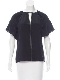 Bailey 44 Silk Eyelet Blouse w/ Tags