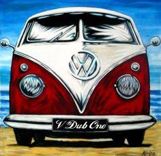VOLKSWAGEN ART VW ART VW Paintings VW Pop Art HANDPAINTED VW Surf Art VW ART…