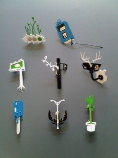 MICHAEL DALE BERNARD-USA  New Urban limited group New Urban LTD series 2009. A small series of brooches slated for laser cut production. Humorous twists of urban fixtures. Stainless steel, silver, powder coat.: