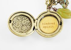 Anne of Green Gables Women's Locket  Kindred by busybeezchickadeez, $26.00