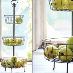 New Arrival! Distressed Three Tier Basket Stand. Perfect for displaying anything from fruit to toiletries! $65
